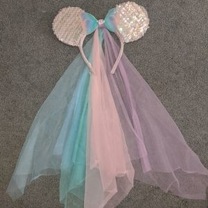 Disney Minnie ears-vintage bride/ spring veil
